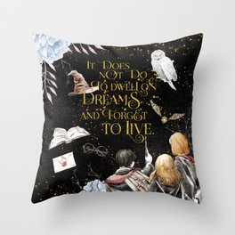 To Dwell On Dreams Throw Pillow