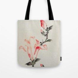 Large Pink Blossom - Hokusai Tote Bag