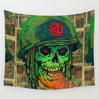 soldier Wall Tapestries featuring 45 Death Soldier by Beery Method