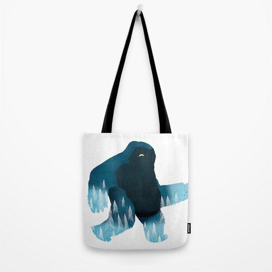 Yeti at Night Tote Bag