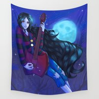 marceline Wall Tapestries featuring Marceline, the vampire queen by Nillusart