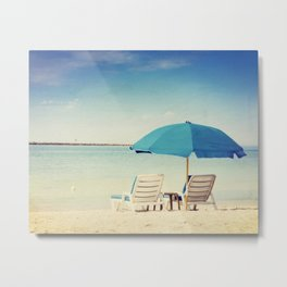 Beach realx Metal Print