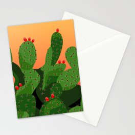 Prickly Pear Desert Sunset Stationery Cards