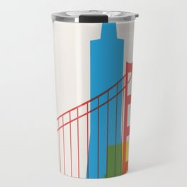 Shapes of San Francisco. Accurate to scale Travel Mug
