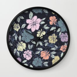 Summery flowers Wall Clock