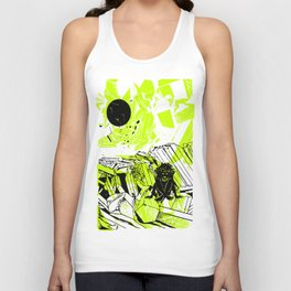 Depression on a Lonely Planet Unisex Tank Top