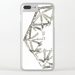 Melted geometry Clear iPhone Case