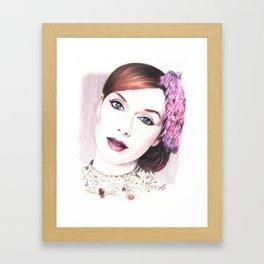 christina hendricks, beautiful vision... Framed Art Print
