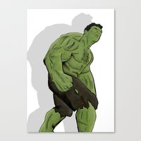 hulk Canvas Prints featuring Hulk by  Steve Wade ( Swade)