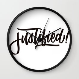 Justified by Faith Wall Clock