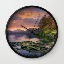 Fall on the Rocks Wall Clock
