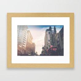 Downtown Hollywood Blvd Los Angeles Framed Art Print