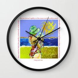 'Mary and Max' (Saw Sea Art Series) Wall Clock