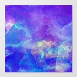 Watercolor abstract art Canvas Print