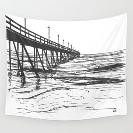 At the Pier Wall Tapestry