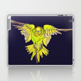 Flying Australian Budgie Bird Parakeet Laptop & iPad Skin