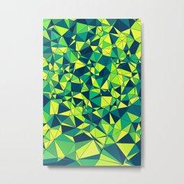 Green Polygonal Pattern Metal Print