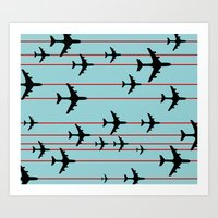 planes Art Prints featuring Planes by Frances Roughton