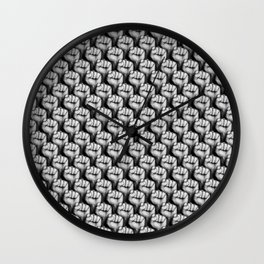 Fight the power / 3D render of raised fists Wall Clock