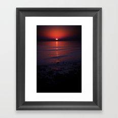 Ending Colors Framed Art Print