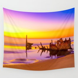 Shipwreck SS Dicky Rainbow Wall Tapestry