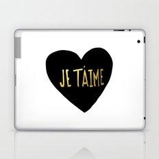 je t'aime x heart Laptop & iPad Skin