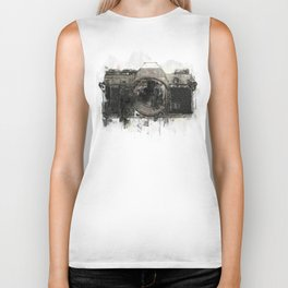 retro camera illustration / painting /drawing  2 Biker Tank