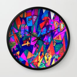 Sanctuary, Temple, Cathedral, in the Moutains Wall Clock