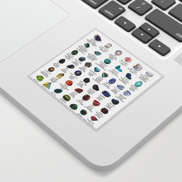 Crystal meanings and stone colours Sticker