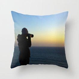Capturing Sunsets Throw Pillow