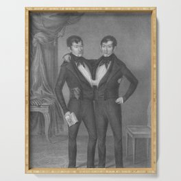 Chang and Eng Bunker - Siamese Twins Portrait Serving Tray