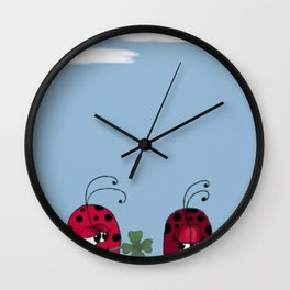 A Clover For My Lover Wall Clock