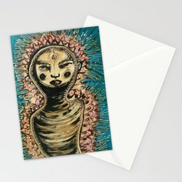niña envuelta/girl wrapped Stationery Cards