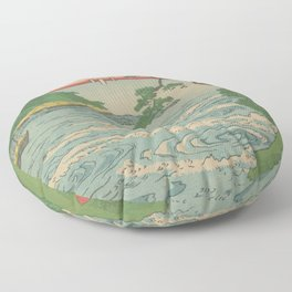 Sea. Ukiyoe Landscape Floor Pillow