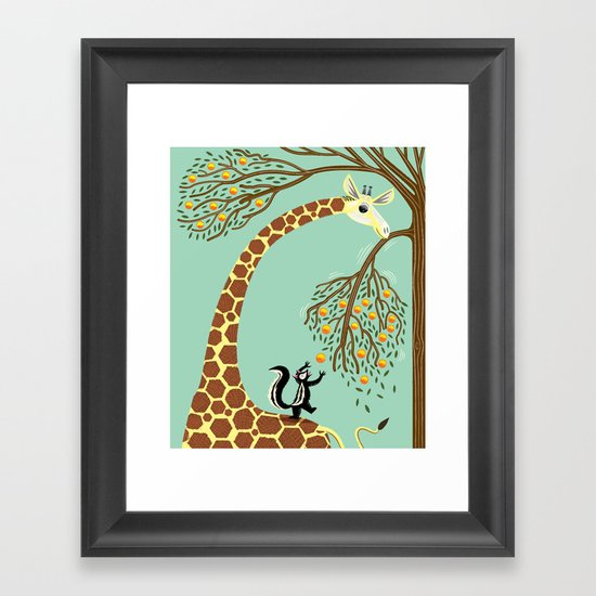 Lending A Neck Framed Art Print