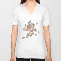 eggs V-neck T-shirts featuring Eggs by Marc Mif