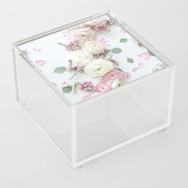 SPRING FLOWERS WHITE & PINK Acrylic Box