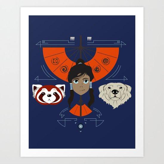 Spirited Avatar Art Print