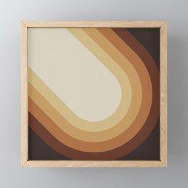 Retro Brown Framed Mini Art Print