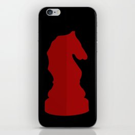 Red Chess Piece - Knight iPhone Skin