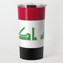 Iraq flag emblem Travel Mug