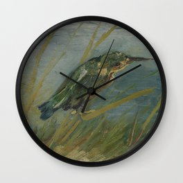 Kingfisher by the Waterside Wall Clock