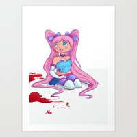 magical girl Art Prints featuring Magical Girl by NatAliDenton
