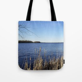 """Incredi-blue"" lake view - Lake Mendota, Madison, WI Tote Bag"