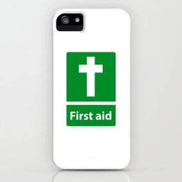 First Aid Cross - Christian Sign Illustration iPhone Case