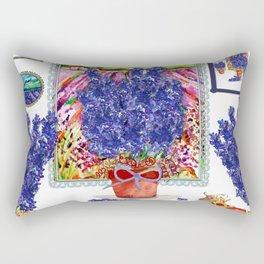 Arranging Delphinium Rectangular Pillow