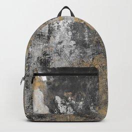 Black Motion On Gold Backpack