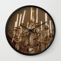 chandelier Wall Clocks featuring Chandelier by Pati Designs & Photography
