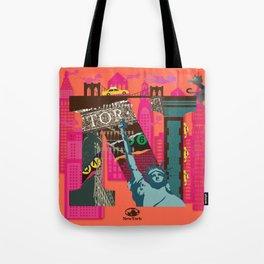 Mews in NewYork (Typography) Tote Bag