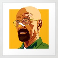 heisenberg Art Prints featuring Heisenberg by Stan Pro